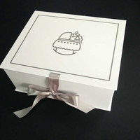 premium quality Fashion Ribbon Closure Box Fold