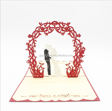 Customized pop up wedding invitation card Christmas greeting 3d cards