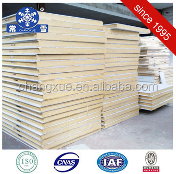 Cold room construction material pu polyurethane foam sandwich wall panel
