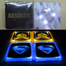 led coaster sticker