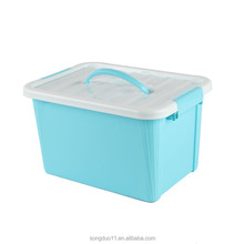 Hot Sale PP Home Handle Storage plastic box food Container with Lock Lid