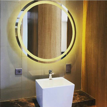 Wall design led lighted salon mirror