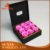 Black preserved real flowers box preserved roses box