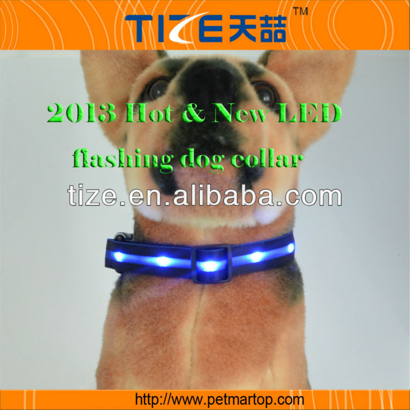 New secondary colour series flashing led cat collar TZ-PET6100