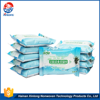 Professional OEM/ODM Manufacture biodegradable nonwoven fabric antibacterial wet wipes for cleaning