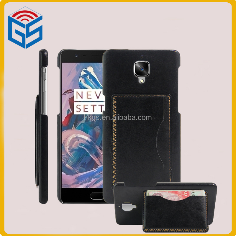Smart Phones 4G Leather Card Holder With Stand Case Flip Cover For Oneplus 3 For One Plus Three