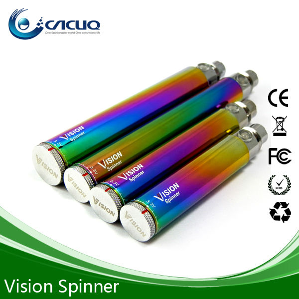 Healthy electronic cigarette importers high voltage 1300mah vision spinner