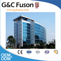 Tempered insulated glass saving energy curtain wall