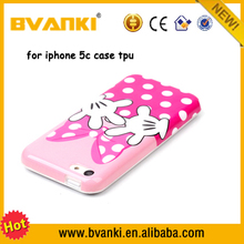 compatible brand cell phone accessory for iphone 5c case 3d sublimation tpu silicone phone case for iphone 5c back cover