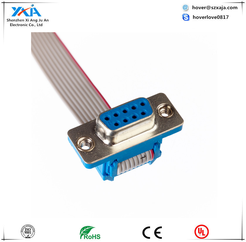 idc to db 15pin connector 2.54mm ribbon vga cable