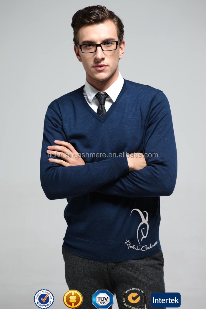 Classic V Neck Knitted Sweater For Man