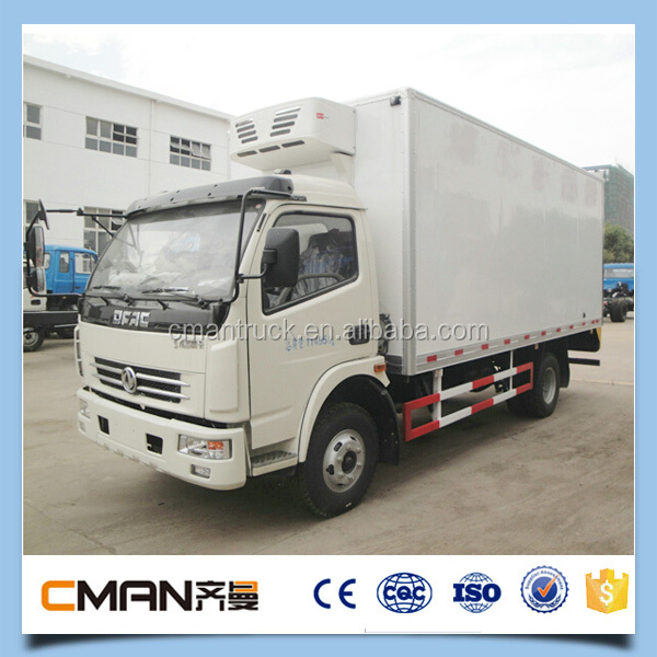Best selling chinese high quality Dongfeng brand 5t refrigerator freezer truck for sale