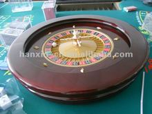 High quality 20 inch casino solid wood roulette wheel china