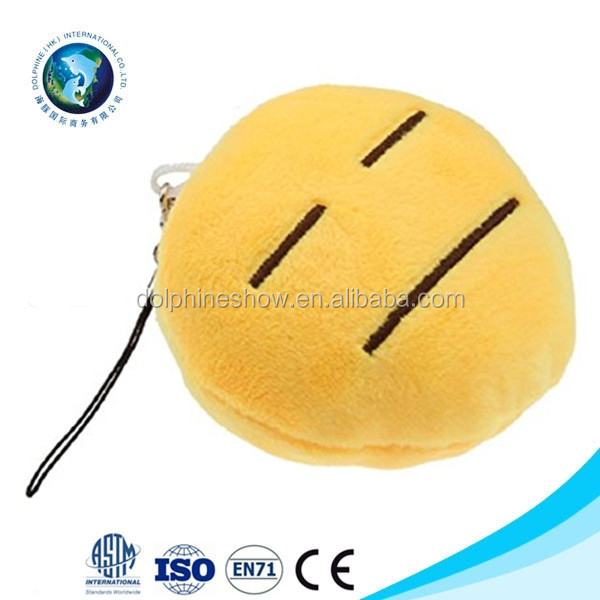 Custom stuffed soft plush keychain emoji emoticon popular cheap stuffed plush custom plush whatsapp emoji pillow keychain