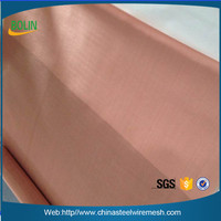 "Excellent thermal and electrical conductivity 2 Mesh Intercrimp Copper .063 36"" Wide Copper Wire Mesh Copper Wire Mesh Fabric"