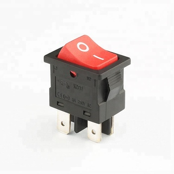 KCD6 free sample on sale 6a 250v dpst rocker switch 4 pin on off