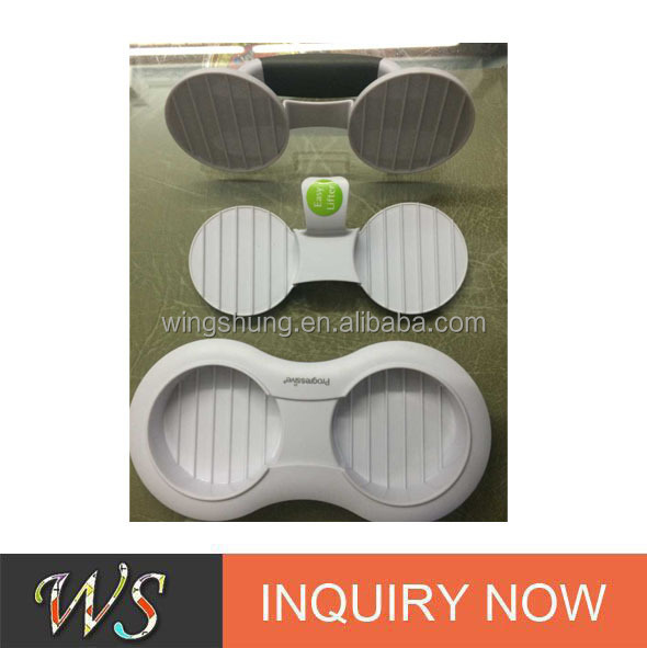 New design plastic double holes burger press WS-809