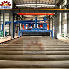 abrasive anti-rust buffing dust collection CE Certification H Beam Steel Sand Blast Machine / Electric Sandblasting Equipment