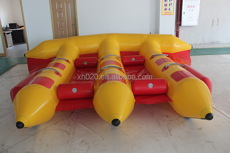 Large shaped summer surfing water game fishing boat flying towable