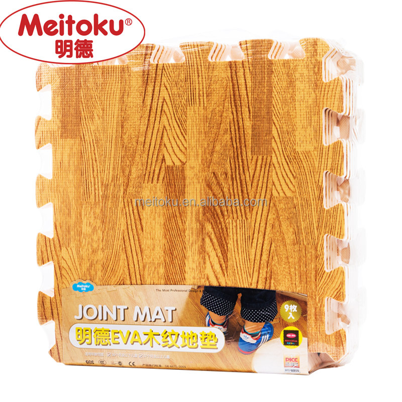 Wood pattern eva mat for kid play gym mat