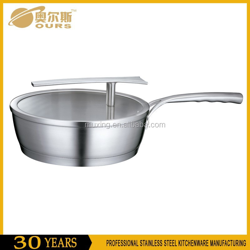 New products 304 stainless steel frypan / ceramic coating fry pan