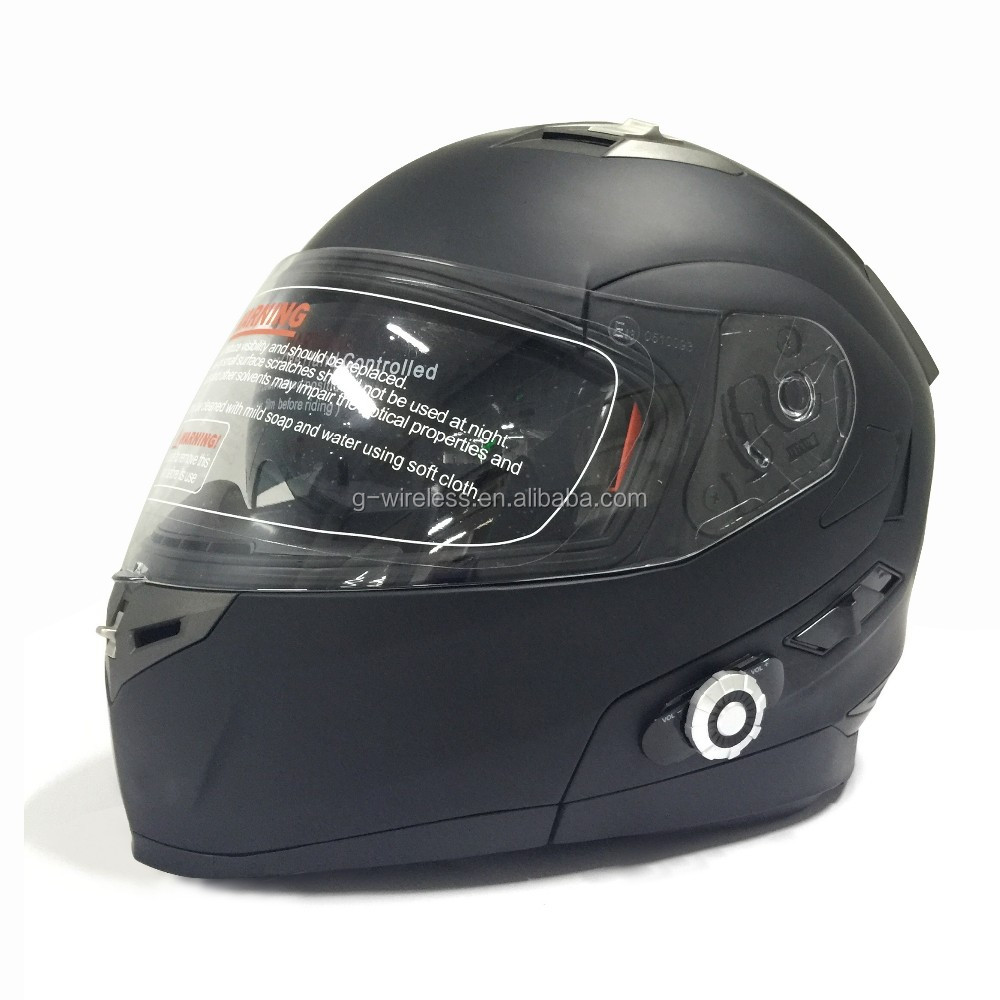 Hot Selling Matt Black Double Visors Flip Up Motorcycle Helmet Popular And Cheap