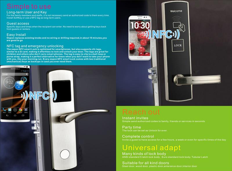 Новый стиль цифровой датчик nfc замок двери