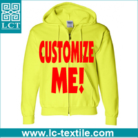 2016 no minimum promotional customized zip up cotton Hoodies LCTH-001