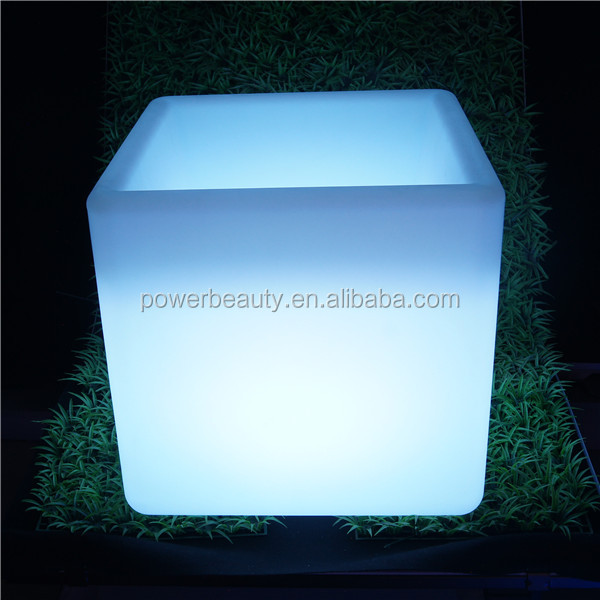 control bar LED glow ice cube buckets with rechargeable battery and 16 emitting colors