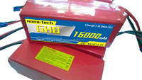 GHB Cheap! 16000MAH 6S 25C MAX 50C 22.2V NANO TECH Helicopter Airplane LIPO PACK RC BATTERY
