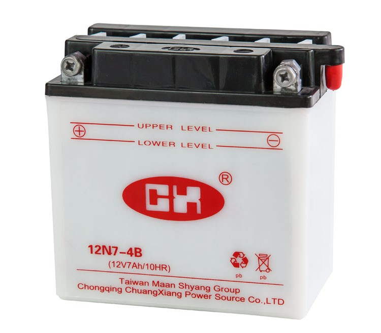 Chuangxiang Xiexiang Brand 12N7 4A Motorcycle Battery