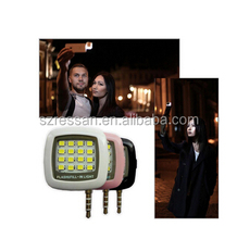 2016 new product selfie time flash led light and camera flash light on factory price