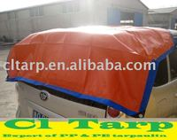 50-350 G PE Tarpaulin with Blue/Orange Color for Car Cover