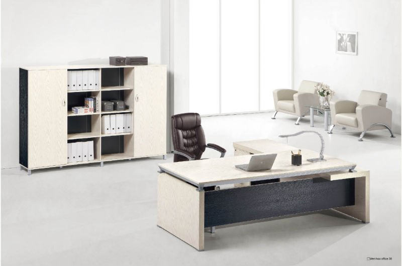 Muebles de oficina v380 moderna oficina de melamina diseño de panel