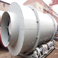 Wood Shaving Sawdust Rotary Drum Dryer Used For Biomass Charcoal Briquetting Plant