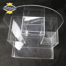 JINBAO Custom made clear plastic product clear acrylic raffle ticket box