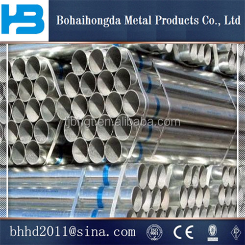 building material/hollow tube/metal/Structure large diameter fence thin wall Q195 Tianjin Galvanized steel pipe