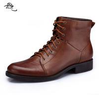 Men cow leather boots made in China