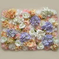 Mixed Color Flower Wall Artificial Flower Wall Backdrop for Wedding