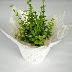 white plant pot cover/christmas plant pot covers