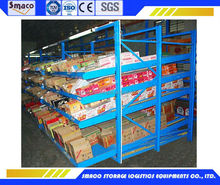 Smaco flow stacking rack with rail