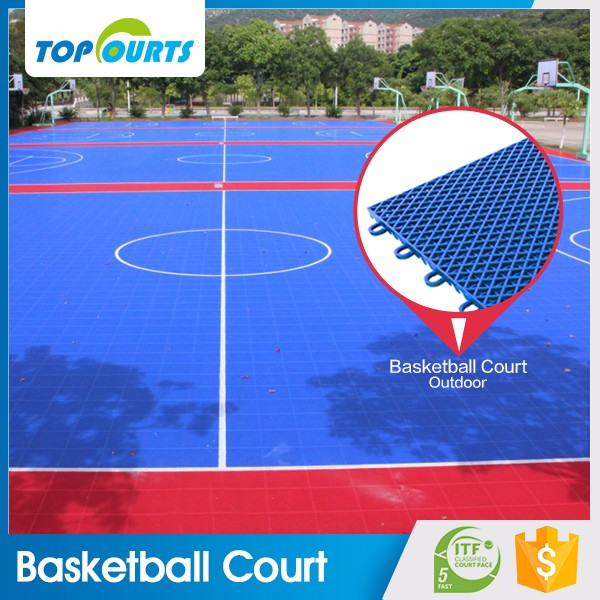 100% pp raw material best price professional factory portable innovative non-slip interlocking outdoor basketball flooring