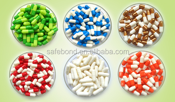 High quality hard gelatin colored printed empty capsules
