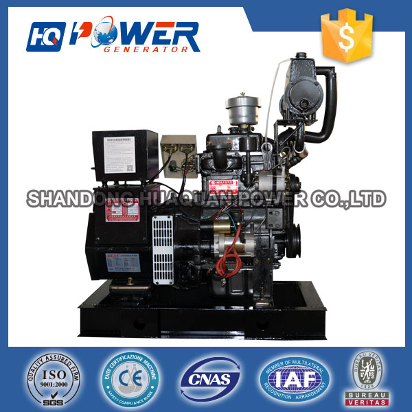 small 15kw famous brand output type diesel marine generator