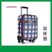 new design style vintage patent 2 pcs pu leather trolley luggage