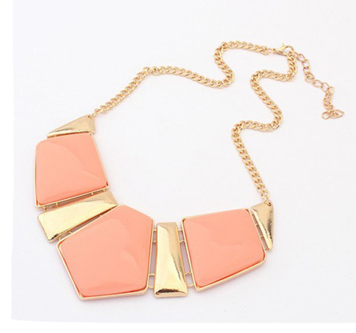 2015 Fashion Choker Maxi Necklace For Women Big Triangle Gems Bib Necklace & Pendants Statement Jewelry AN025