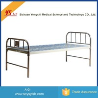 Wholesale Hospital furniture Portable steel Hospital flat Bed for patient