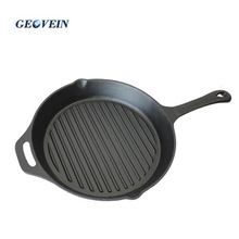 Wholesale Pre-seasoned Cookware Beef Roasting Skillet Non Stick Cast Iron Grill Pan