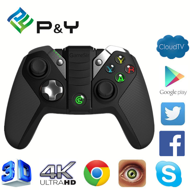 2017 home used GameSir G4S Gamepad Wireless Blutetooth Controller 7'' quad core gamepad android 4.4 wholesale online controlling