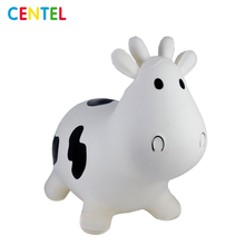 Milk Cow Jumping Bouncy Animal Bouncy Hopper Inflatable Jumping Animal Toy
